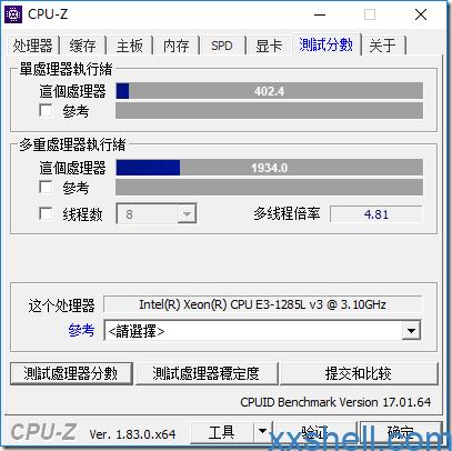 CPU-Z_跑分